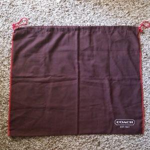 Coach cloth bag for bag